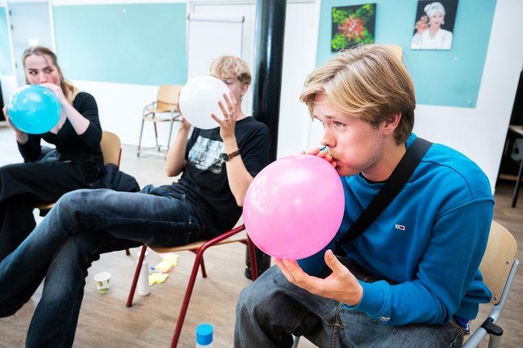 De leerlingen van het ROC van Amsterdam. Beeld Sanne De Wilde