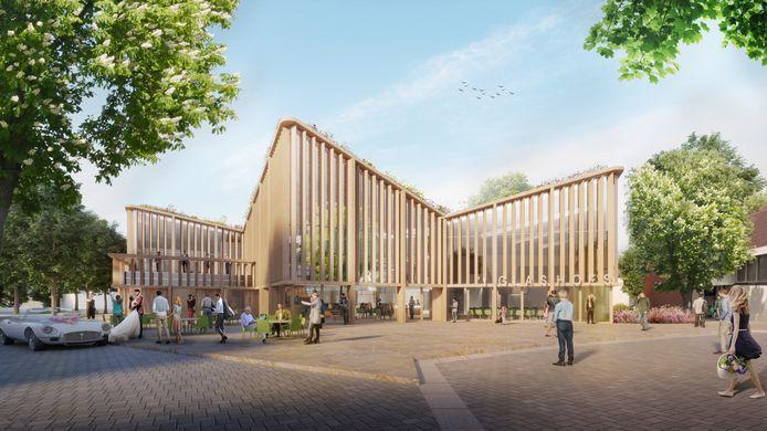 Het ontwerp voor het nieuwe gemeentehuis van Tubbergen.