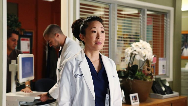 Sandra Oh in Greys Anatomy. Beeld Filmstill