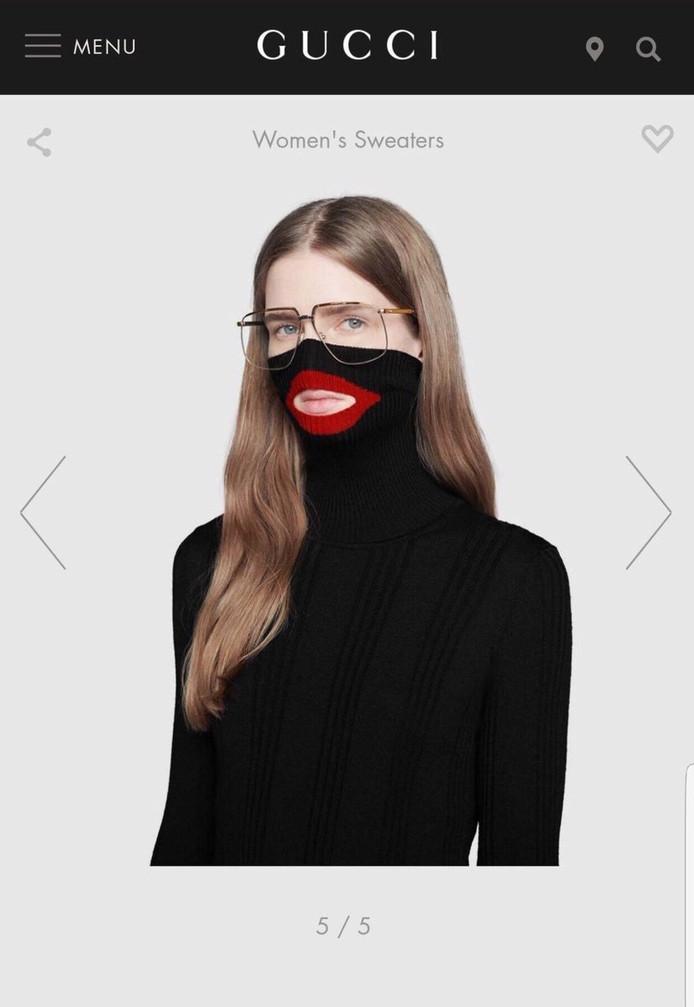 21f4c71cdec Modemerk Gucci door het stof voor ontwerp  blackface-sweater ...