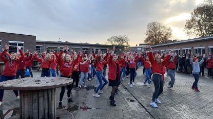 Atheneum Herzele, De Trampoline en KAZ-klas sluiten Rode Neuzen Actie dansend af