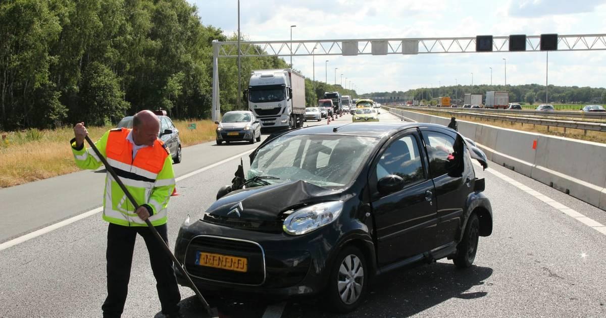 Meerdere ongevallen op A1 bij Rijssen, weg weer vrijgegeven.