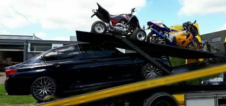 Hennepkwekerij aangetroffen in schuur bij woning in Kaatsheuvel; luxe voertuigen in beslag genomen