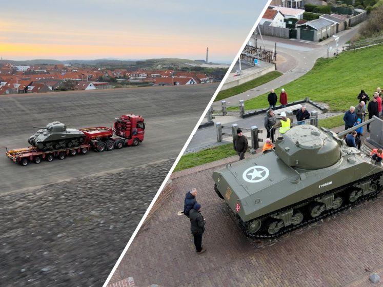 De tank is terug in Westkapelle... en wat is-ie mooi geworden!