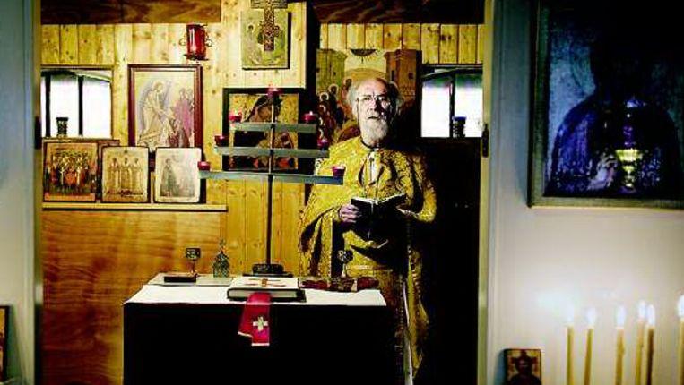 Oosters-orthodoxe priester Frans Lucassen (Reyer Boxem/Trouw) Beeld