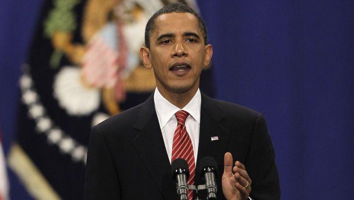 De Amerikaanse president Barack Obama.