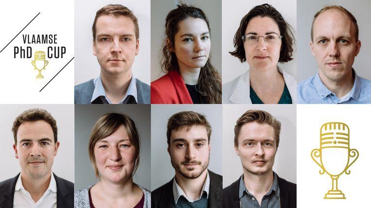 Maak kennis met de 8 finalisten van de PhD-Cup Beeld RV