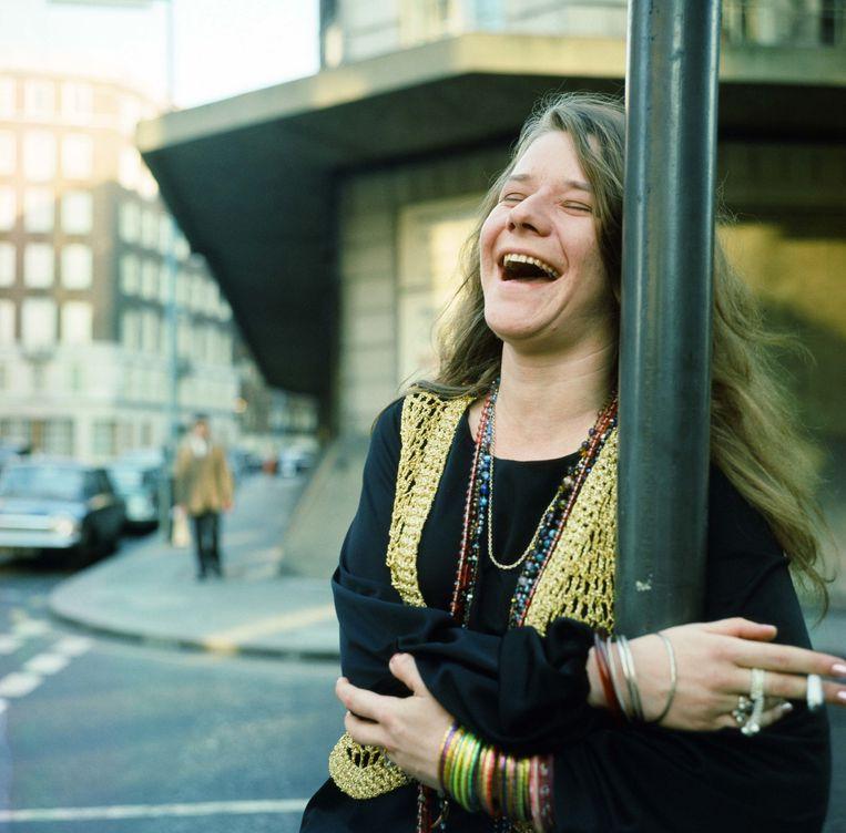 Janis Joplin in Londen in 1969. Beeld Mirrorpix via Getty Images
