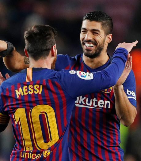 Suárez en Messi helpen Barcelona aan drie punten tegen Leganés