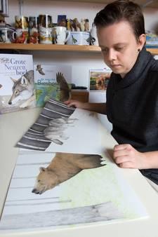 Illustratrice Stef den Ridder haalt inspiratie uit natuur van het Vloeiveld in Zevenbergen, 'De wolf is echt mijn favoriete dier'