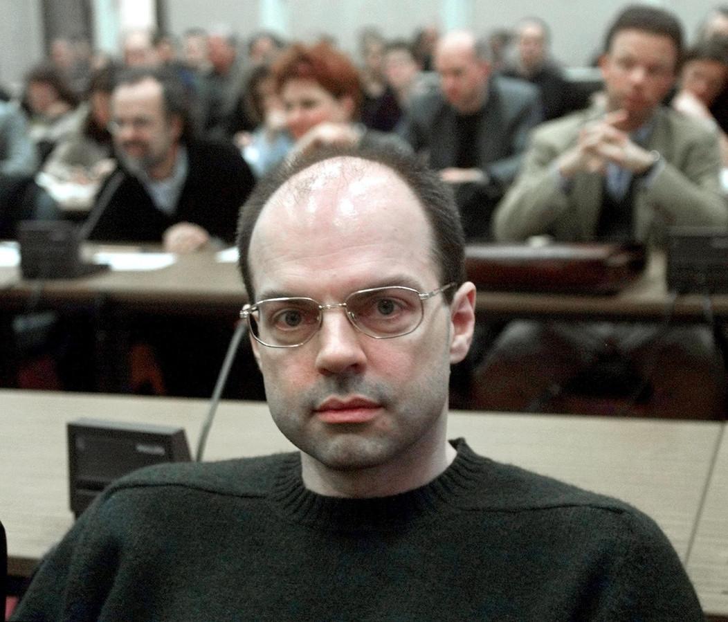 Thomas Drach in december 2000 bij het begin van de rechtszaak over de ontvoering van de Hamburgse multimiljonair.