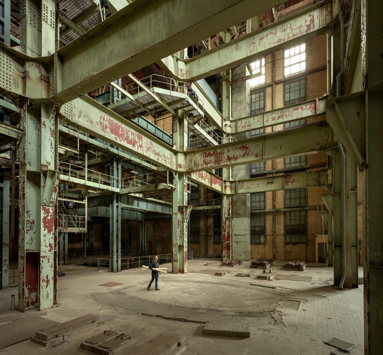 De Electriciteitsfabriek in Den Haag (hier nog leeg), gebruikt als kunsthal. Beeld Hein van Liempd