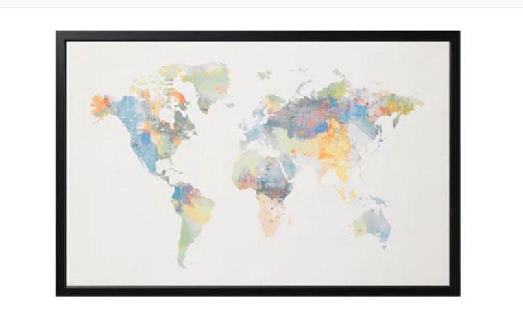 Op de wereldkaart van Ikea mist Nieuw-Zeeland