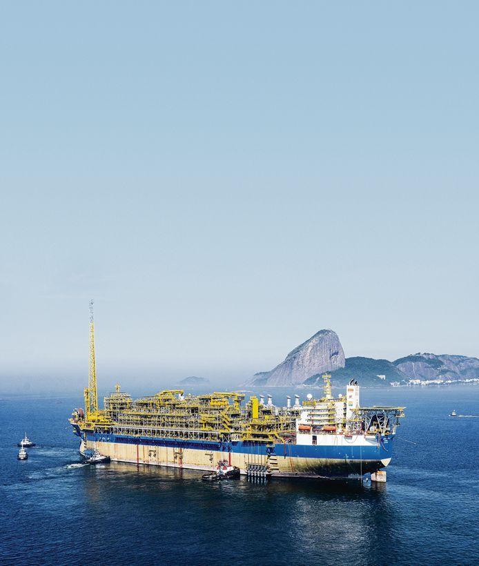 Een schip van SBM Offshore in Brazilië.