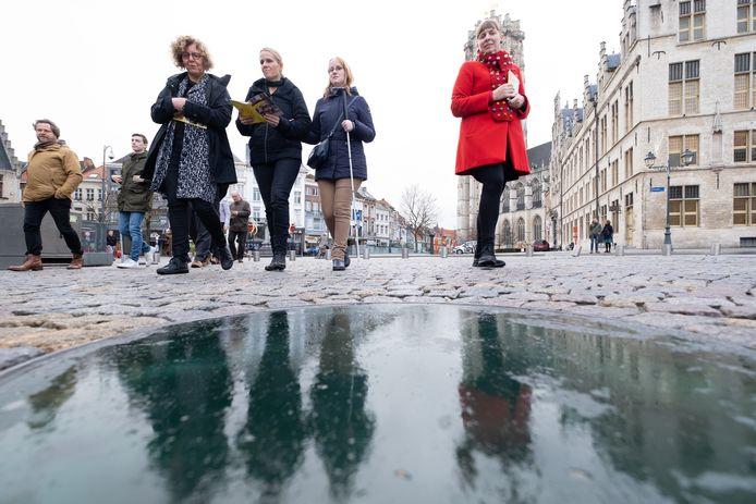 Archiefbeeld van 2018: Stad Mechelen en Toerisme Vlaanderen stellen voor: 'Mechelen, toegankelijk voor iedereen', een toegankelijke erfgoedwandeling