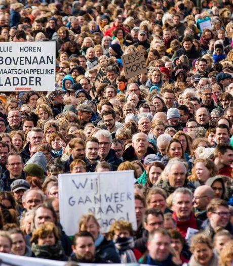 Onderwijsstaking op het Lange Voorhout: Den Haag zal merken dat docenten werk stilleggen