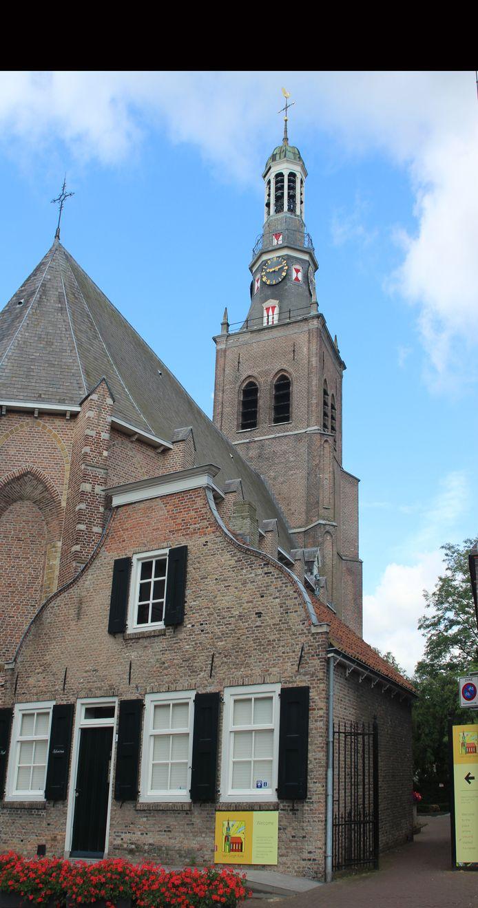 Van Goghkerk met het informatiecentrum in het vroegere kostershuis, dat met de kerk wordt meeverkocht.