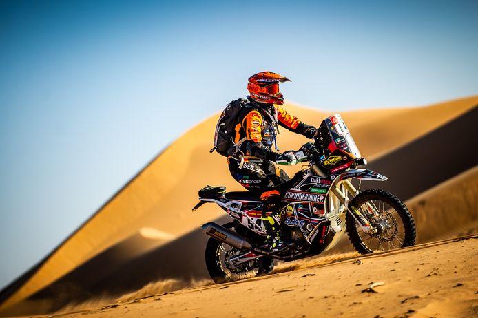Mirjam Pol uit Borne in actie tijdens de 41ste Dakar Rally in Saoedi-Arabië.