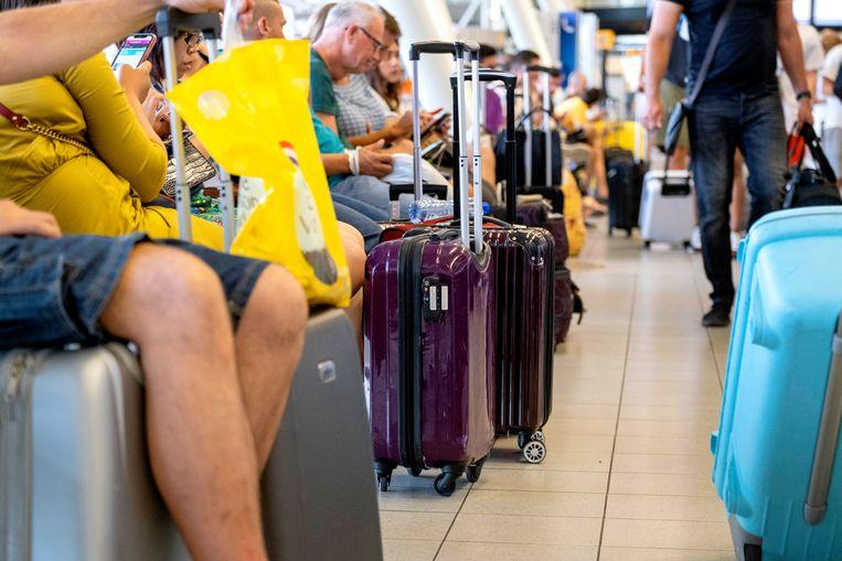 Passagiers bij Schiphol. Beeld ANP