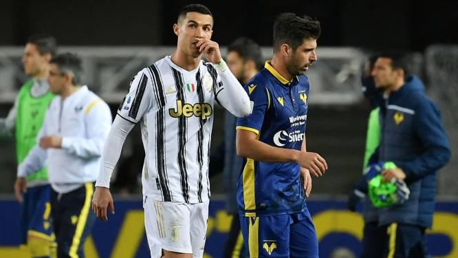 Juventus loopt ondanks doelpunt Cristiano Ronaldo opnieuw averij op in titelstrijd