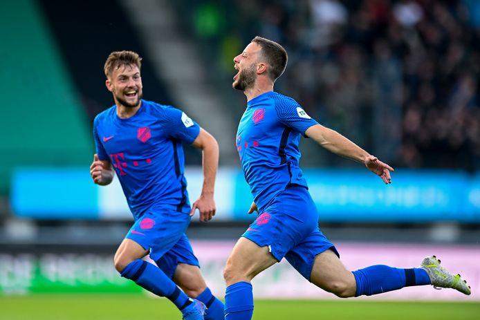 Bart Ramselaar opende in de eerste helft op fraaie wijze de score.
