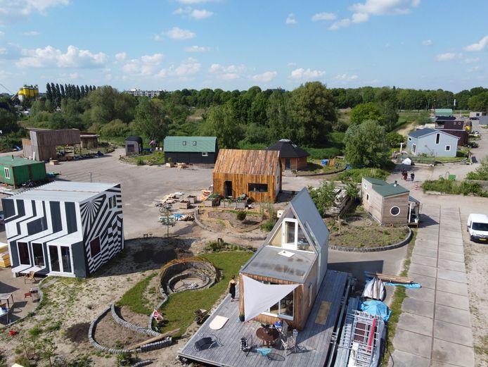 Bovenaanzicht van minitopia: het tiny houses project in Den Bosch waar Ap de Vries het over had.