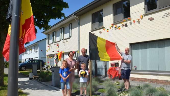 Rode Duivels-gekte barst al los in wijk Hof Ter Duyst