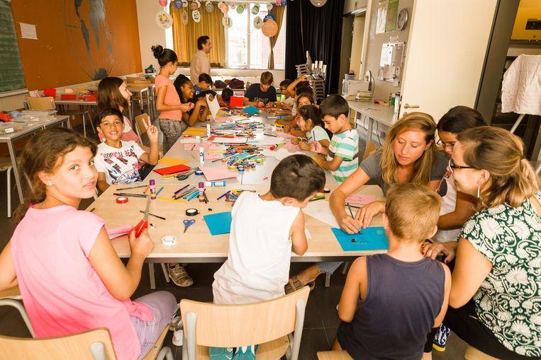 Op een speelse manier kregen de anderstalige kinderen een Nederlands taalbad.