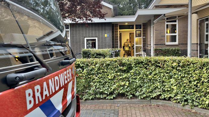 Bij De Losserhof heeft een matras door nog onbekende oorzaak vlam gevat.