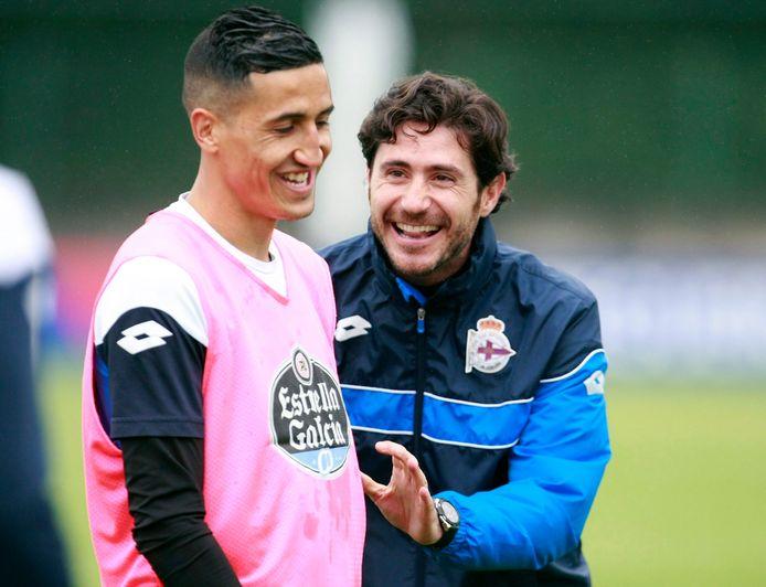 Victor Sanchez del Amo (à droite), alors entraîneur du Deportivo La Corogne (archives)