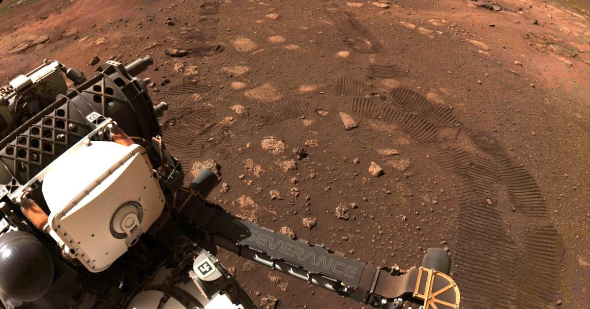 Perseverance maakt eerste ritje op Mars | Wetenschap - AD.nl