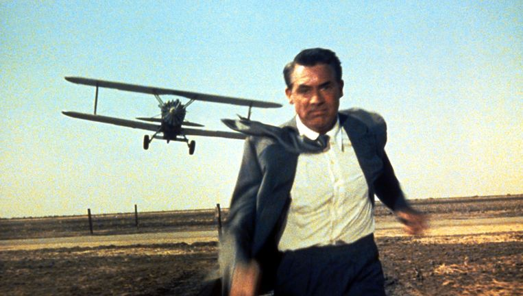 Cary Grant in North by Northwest Beeld Courtesy Everett Collection
