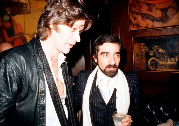 Robbie Robertson (links) en Martin Scorsese in 1978. Beeld Getty