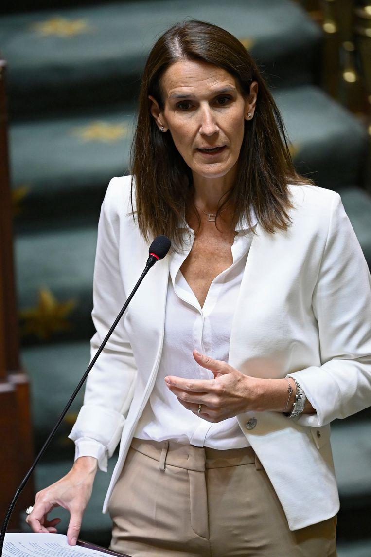 Premier Sophie Wilmès (MR) moest op de inboedel passen na het vertrek van Charles Michel naar Europa, maar amper vier maanden na haar intrek in de Zestien barstte de coronacrisis los. Beeld Photo News