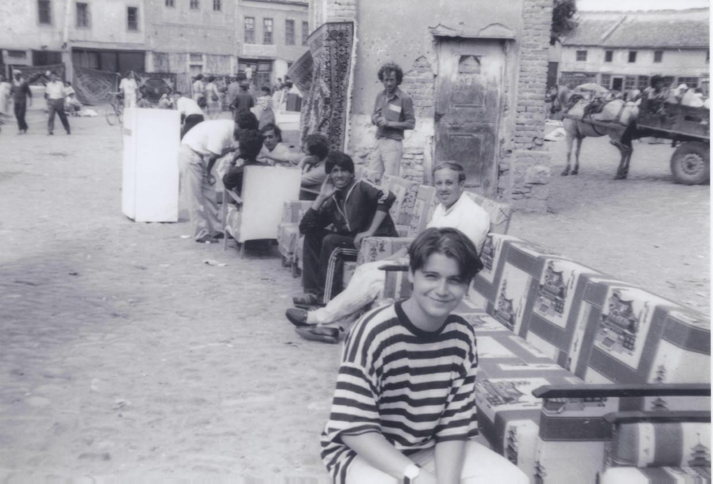 Douglas De Coninck in hoofdstad Tirana, 1992. Beeld Douglas De Coninck