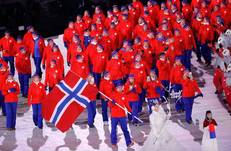 Noorwegen stuurde 109 sporters naar de Olympische Spelen in Korea. Beeld REUTERS