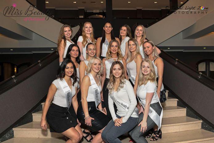 De finalisten van Miss Beauty of Overijssel 2019