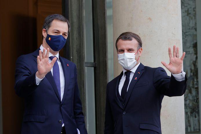 Alexander De Croo et Emmanuel Macron (Paris, 1er décembre 2020)