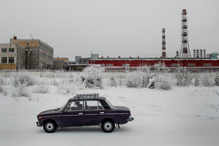 De Nadvoitsy Aluminiumfabriek uit 1954. Beeld Emile Ducke