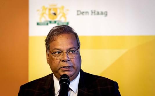 Wethouder Rabin Baldewsingh kondigt de Haagse kandidatuur aan voor Europese sporthoofdstad in 2021.
