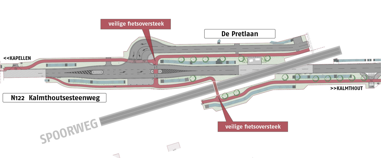 De tweede fase van de heraanleg van de Kalmthoutsesteenweg start op 9 augustus