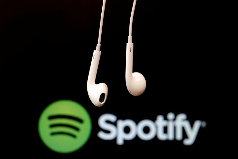 De muziekdienst Spotify 'komt onmiddellijk in actie als we op zulk materiaal worden gewezen' Beeld REUTERS