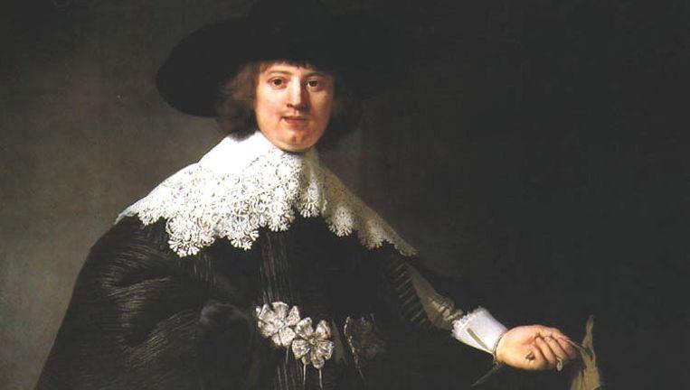 De portretten van de 21-jarige Maerten Soolmans en zijn 23-jarige bruid werden oorspronkelijk voor 500 gulden gekocht. Beeld Wikimedia