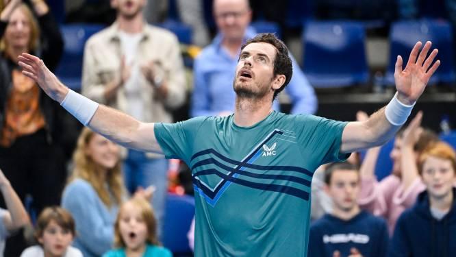 Murray na langste match van het jaar naar tweede ronde, Zizou Bergs uitgeschakeld in Antwerpen