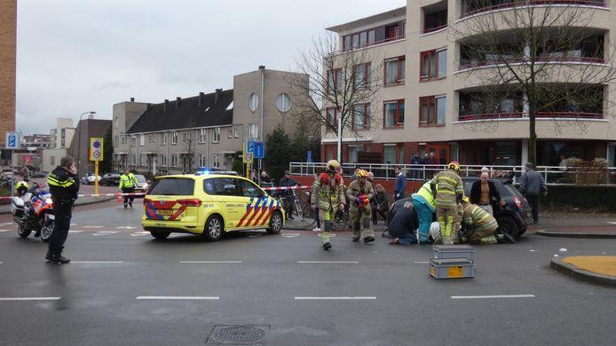 Een ernstig ongeval aan de Nieuweweg in Veenendaal.