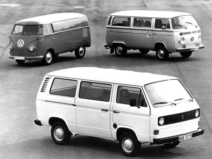 Van links naar rechts: de T1, T3 en T2.