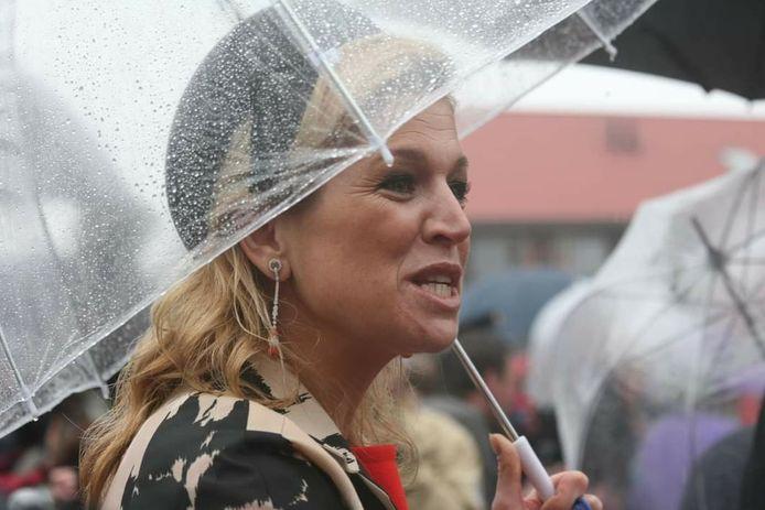 In de regen in Wemeldinge.