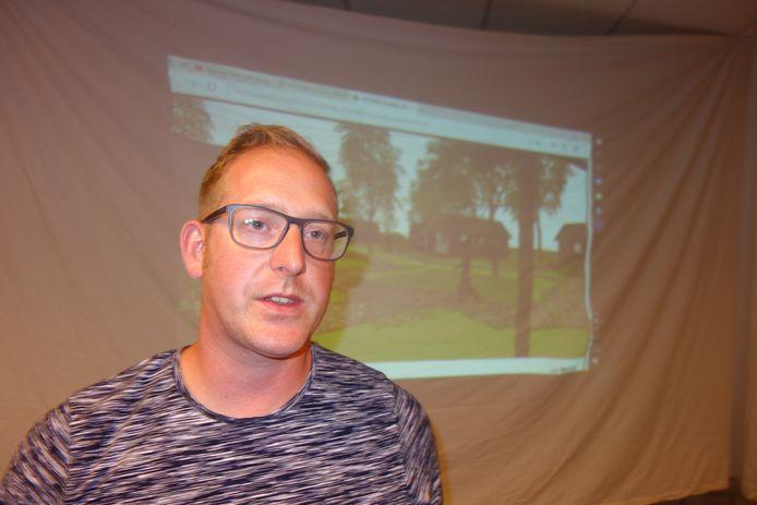 Johan van Bakel, de initiatiefnemer van Tiny Houses in Aarle-Rixtel