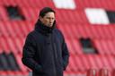 PSV-trainer Roger Schmidt kreeg met PSV in blessuretijd de 1-1 om de oren.