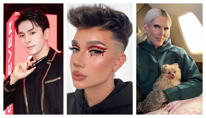 Austin Li Jiaqi (28), James Charles (21) en Jeffree Star (35).